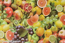 """1,4 m / 55 """"Rotondo Vinile Frutta Pvc pulire giardino tavolo tessuto incerato TABLECLOTH CO"""