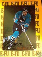 1998-99 BAP Hockey PATRICK MARLEAU Autograph Gold San Jose Sharks Auto #120