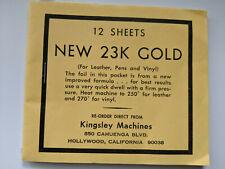 Kingsley Machine  - 23K  Brilliant Gold Foil Sheets - Hot Foil Stamping Machine