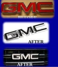 GMC Emblem OVERLAY Decal Vinyl Sheets Universal DIY KIT Sierra Denalli 1500 2500