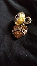 "AUTHENTIC PANDORA DISNEY CHARM BEAD w/ ""SISTER"" DANGLE + CASE  LOT PS001"