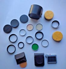 Mixed LOT 21 KODAK & Tiffen & Wratten Series VI Filters Adapters Lens Covers