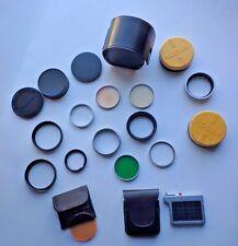 Mixed LOT 21 KODAK & Tiffen & Wratten Series VI Filters Adapters, Lens Covers