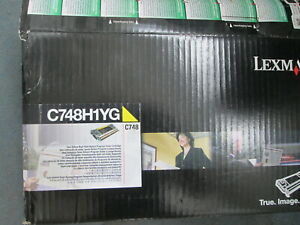 Genuine Lexmark C748 C748H1YG High Yield YELLOW Toner Cartridge 10,000 Pages