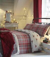 Robin Check Flannelette Duvet Quilt Cover Set Single Double King Size Bedding