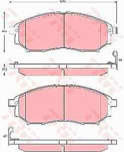 TRW GDB3392 Brake Pad Set