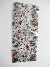 """12 Red Bird Cardinal Cellophane Christmas Holiday Winter 4x9"""" Candy Bags & Ties"""