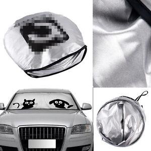 1x Folding Jumbo Cartoon Car Window Visor Auto Sun Shade Windshield Block Cover