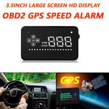 Universal HUD Head Up Display GPS Speedometer Car Overspeed Tired Warning Alarm