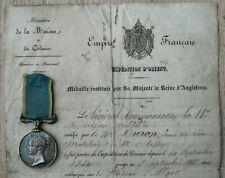 MEDAGLIA CRIMEA + ATTESTATO RISORGIMENTO Médaille Crimea MEDAL MILITARY MEDALS
