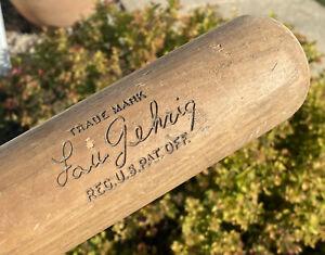 Lou Gehrig H&B Hillerich & Bradsbury Vintage Louisville Slugger 126 Baseball Bat