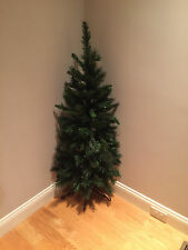 44021 4' Anchorage Fir Wall-Mount Floor Corner Space Saver Half Christmas Tree