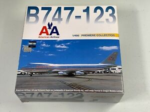 Rare Dragon Models 1/400 American Airlines B747-200 Polished Metal ***Read***