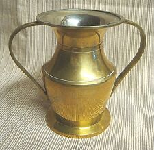 SILVER LINED BRASS URN Handcrafted in INDIA by ARCHANA
