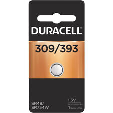 Duracell 309/393 Watch, Calculator 1.5V Silver Oxide Coin Cell Battery