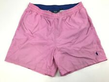 POLO Ralph Lauren Mesh lined Pink Swim Trunks Shorts XL Drawstring Pockets Surf