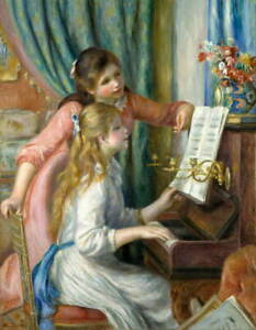 Auguste Renoir Two Young Girls at the Piano Giclee Paper Print Poster