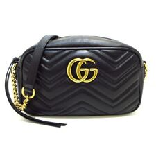 Auth GUCCI GG Marmont Quilting Small Shoulder Bag 447632 Womens Shoulder Bag