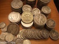 $1 90% Silver Coins Lot Half Dollar Quarters Dimes No Junk #1002