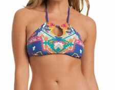 Trina Turk Tapestry halter bikini top size 10 NEW