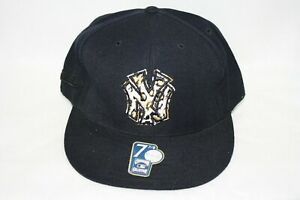 Mens New York NY Yankees Mitchell & Ness Black Tan Baseball Fitted Hat Cap