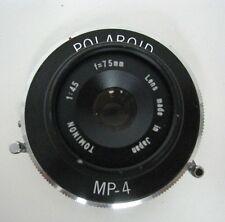 Polaroid MP-4 Shutter Tominon Lens f/4.5 75mm Japan