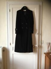 Gérard DAREL : Très beau manteau long ,noir , neuf en T: 38