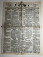 N428 La Une Du Journal  L'éclair 21 juin 1900 Louise Koppe