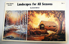 LANDSCAPES FOR ALL SEASONS Vol. 1 Sue Scheewe by Carol Binford 1983 Art Lessons