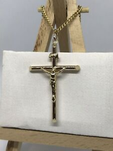 9CT 375 HALLMARKED YELLOW GOLD MENS WOMEN JESUS CRUCIFIX PENDANT BRAND NEW