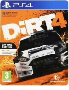 Dirt 4 Day One Edition Steelbook PlayStation PS4 Game
