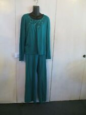 WOMAN'S PANT SUIT (SEQUIN TOP)BY JONES N.Y. SPORT SIZE MED-COTTON BLEND