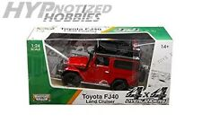 MOTORMAX 1:24 W/B TOYOTA FJ40 LAND CRUISER   DIE-CAST RED 79137