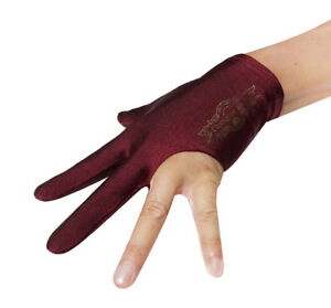 Brand New Wine Champion Pool Cue Stick Glove- Wear On Left hand