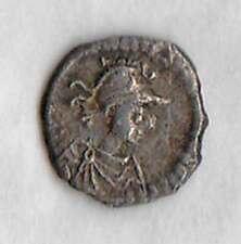 JUSTINIAN I (527-565AD) AR 1/3 Silver Siliqua CONSTANTINOPLE Helmeted/Big K VF