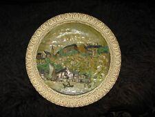 19 century Wilhelm Schiller & Son Large Ceramic Porcelain Plate No: 6917
