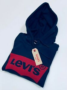 Levi's Men's Pullover long sleeve Batwing Logo Hoodie  (Navy)      RRP £70