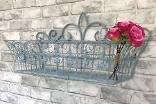 MEDIUM Vintage Style Metal Wall Basket Window Box Flower Planter Trough Garden