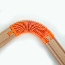 Flexible track for wooden toy train set. bendable, compatible Brio Thomas IKEA