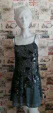 Next Women's Dress Sequin Embellishment Grey Slip Dress Size 10 UK Gatsby