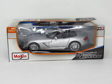 NEW Maisto 2014 Special Edition 1:18 Dodge Viper SRT Die Cast Coupe Silver Car
