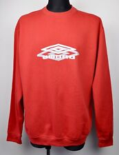 UMBRO vtg Crew Neck Jumper XL Men's Spellout Sweatshirt Red Retro Hoodie Top
