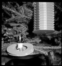 Lampion bougie sapin de noël décoration-  Ancien négatif photo an. 1940