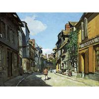 Monet Rue De La Bavole Honfleur Painting Canvas Art Print Poster