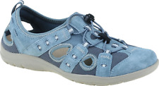 Earth Spirit Winona Moroccan Blue Ladies Leather Casual Elasticated Walking Shoe