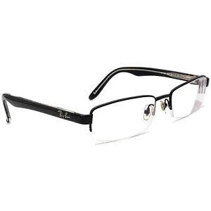 Ray-Ban Eyeglasses RB 8588 1017 Titanium Black Half Rim Frame 52[]18 140