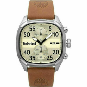Timberland Mens Portsmouth Analogue Watch Leather Strap Brown A1BRO B109D