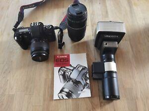 Canon Eos 500 mit 35-80 und 75-300 III Objektiv sowie Metz 45 CT-4 Blitz