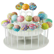 2 Tier Lollipop and Cake Pop Display Stand 42 Hole Holder Solid Plastic