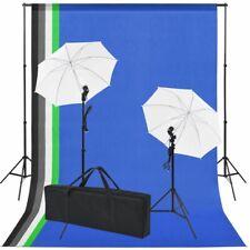 Vidaxl kit estudio Fotográfico con 5 fondos 2 paraguas Fotografía Iluminación